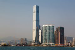 Hong Kong International Commerce Centre Skyline during the Day Royalty Free Stock Image