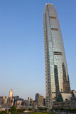 Hong Kong International Finance Center. With Reflection Royalty Free Stock Image