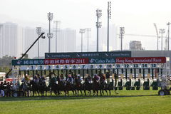 Hong Kong International Races Day 2011 Stock Photography