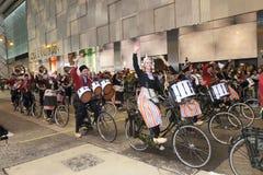 Hong Kong: Internationale Parade 2014 des Chinesischen Neujahrsfests Nacht Lizenzfreie Stockbilder