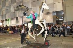 Hong Kong: Internationale Parade 2014 des Chinesischen Neujahrsfests Nacht Lizenzfreie Stockfotografie