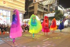 Hong Kong: Internationale Parade 2015 des Chinesischen Neujahrsfests Nacht Lizenzfreie Stockfotos