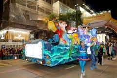 Hong Kong: Internationale Parade 2016 des Chinesischen Neujahrsfests Nacht Lizenzfreie Stockfotografie