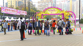 Hong Kong internationallblomsterutställning 2015 Arkivbild