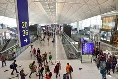 Hong Kong internationell flygplats Royaltyfria Bilder