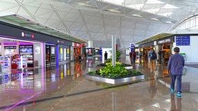 Hong Kong internationell flygplats som shoppar område Fotografering för Bildbyråer