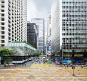 Hong Kong Intersection Royaltyfria Foton
