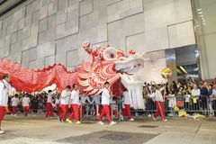 Hong Kong : Intl Chinese New Year Night Parade 2014 Stock Photo