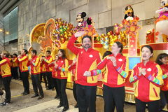 Hong Kong : Intl Chinese New Year Night Parade 2014 Royalty Free Stock Photo