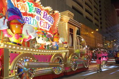Hong Kong : Intl Chinese New Year Night Parade 2014 Royalty Free Stock Photos