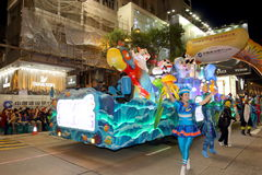 Hong Kong : Intl Chinese New Year Night Parade 2016 Royalty Free Stock Photography