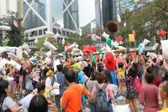 Hong Kong Intl Pillow Fight 2015 Stockbild