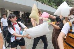 Hong Kong Intl Pillow Fight 2015 Fotografia Stock