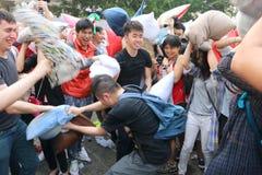 Hong Kong Intl Pillow Fight 2016 Stock Photography