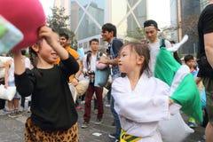 Hong Kong Intl Pillow Fight 2016 Stock Photos