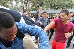 Hong Kong Intl Pillow Fight 2016 Royalty Free Stock Images