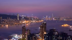 Free Hong Kong Island And Kowloon Night Scene Royalty Free Stock Images - 111476239