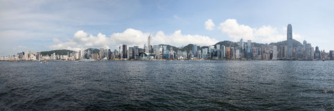 Hong Kong Island Central City horisont Arkivbild