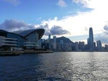 Hong Kong island city of economic Stock Photos