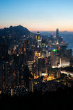 Hong Kong Island cityscape at dusk Stock Image