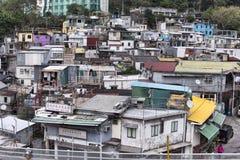 Hong Kong Island gatasikt fotografering för bildbyråer