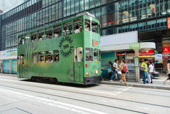 Hong Kong Island, Hong Kong - September 19, 2009 : 1904's Hong Kong Tram Stock Photos