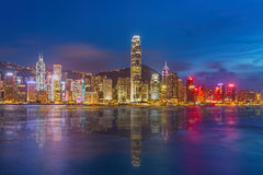 Hong Kong Island from Kowloon. Stock Photos