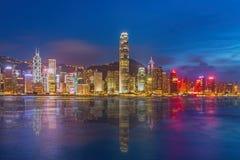 Hong Kong Island from Kowloon. Hong Kong Island cityscape from Kowloon Stock Photos