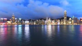 Hong Kong Island from Kowloon at dusk Royalty Free Stock Photography