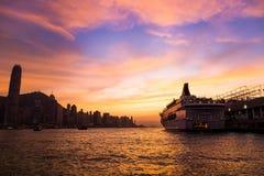 Hong Kong Island from Kowloon.  Stock Images