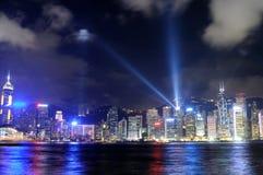 Hong Kong island, laser show Royalty Free Stock Photography