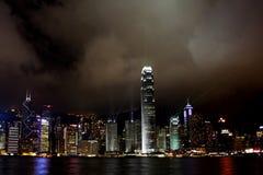 Hong Kong Island-Lichtshow lizenzfreies stockbild