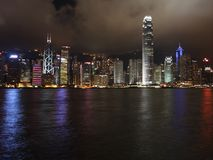 Hong Kong Island light show Royalty Free Stock Images
