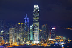 Hong Kong Island night Stock Photography