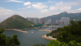 Hong Kong Island from Ocean Park Royalty Free Stock Image