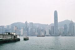 Hong Kong Island Place nuvoloso Fotografie Stock Libere da Diritti