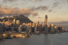 Hong Kong Island at Sunrise Royalty Free Stock Photo