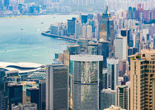 Hong Kong Island und Victoria Harbour Stockbilder