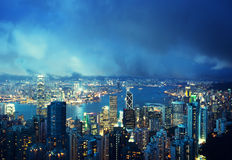 Hong Kong island from Victoria's Peak Royalty Free Stock Photography