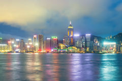 Hong Kong Island view from Kowloon. Stock Photography