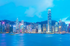 Hong Kong Island view from Kowloon. Royalty Free Stock Photography