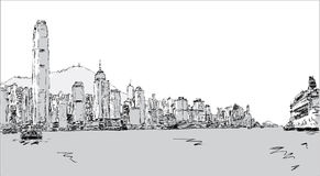 Hong Kong Island royalty free illustration