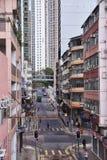 Hong Kong Island, vista della via fotografie stock libere da diritti