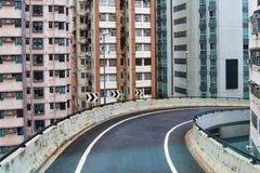 Hong Kong Island, Weg (viaduct) Stock Foto's