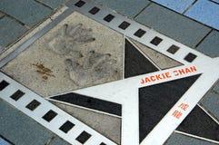 Hong Kong: Jackie Chan Star Stock Image