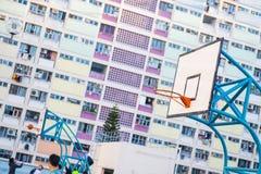 Hong Kong - January 12, 2018 :Basketball court at the Choi hung stock image