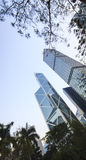 The three of the most recognisable sky scrappers in Hong Kong. Royalty Free Stock Images
