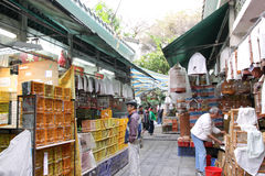 Hong-Kong: Jardín del pájaro de la calle de Yuen Po Imagen de archivo