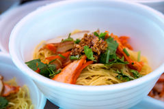 Hong Kong jedzenie, wonton kluski Obraz Stock