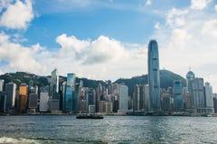 Hong Kong - JULI 27, 2014: Hong Kong-horizon  Royalty-vrije Stock Afbeelding